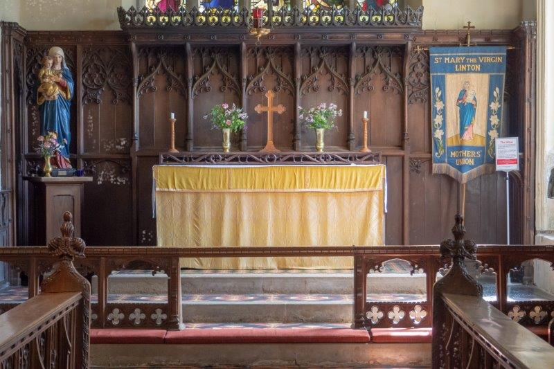 Church restoration - oak reredos